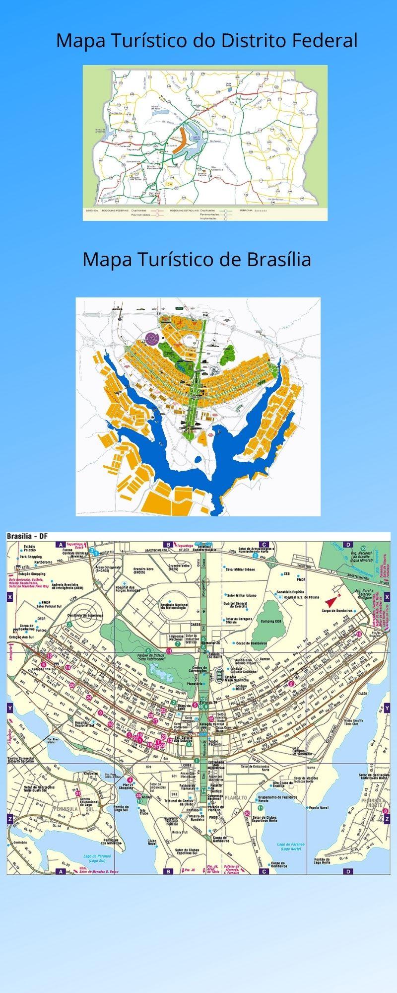 Infográfico Atrações Turísticas do Distrito Federal e Norte de Goiás 2