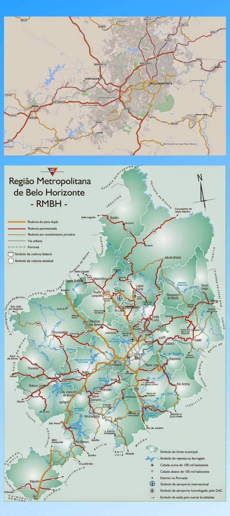 Infográfico Atrações Turísticas de Minas Gerais (BH e Região Metropolitana) 2