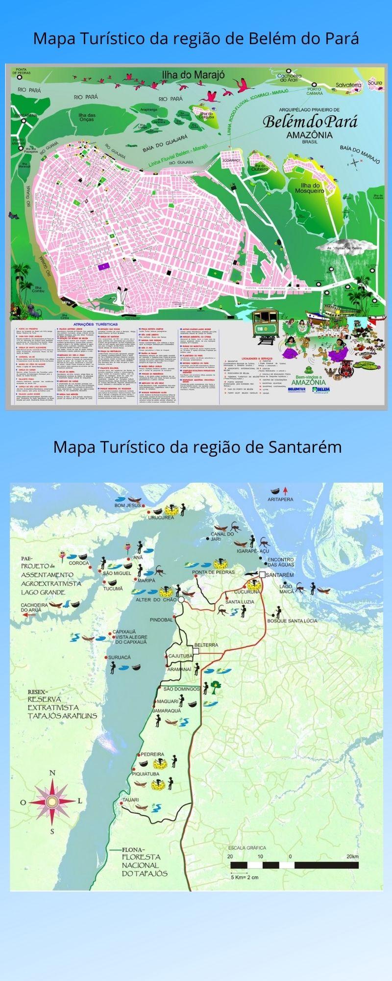 Infográfico Atrações Turísticas do Pará 2