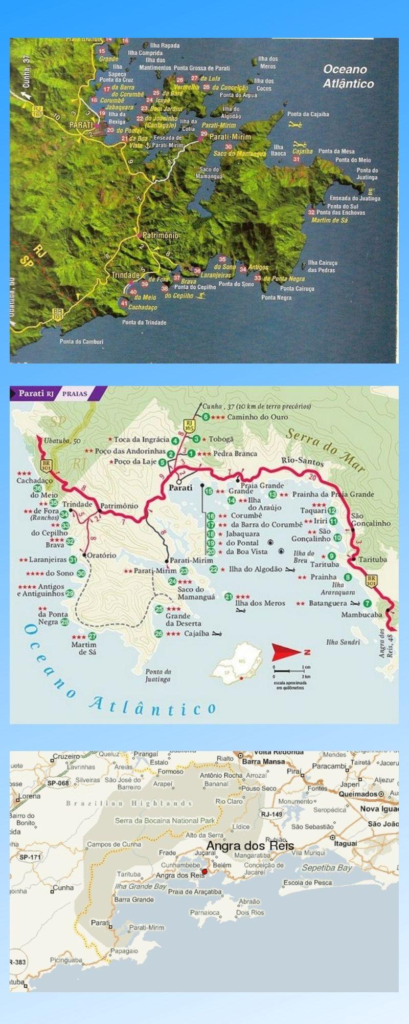 Infográfico Atrações Turísticas do Rio de Janeiro (Angra e Paraty) 2