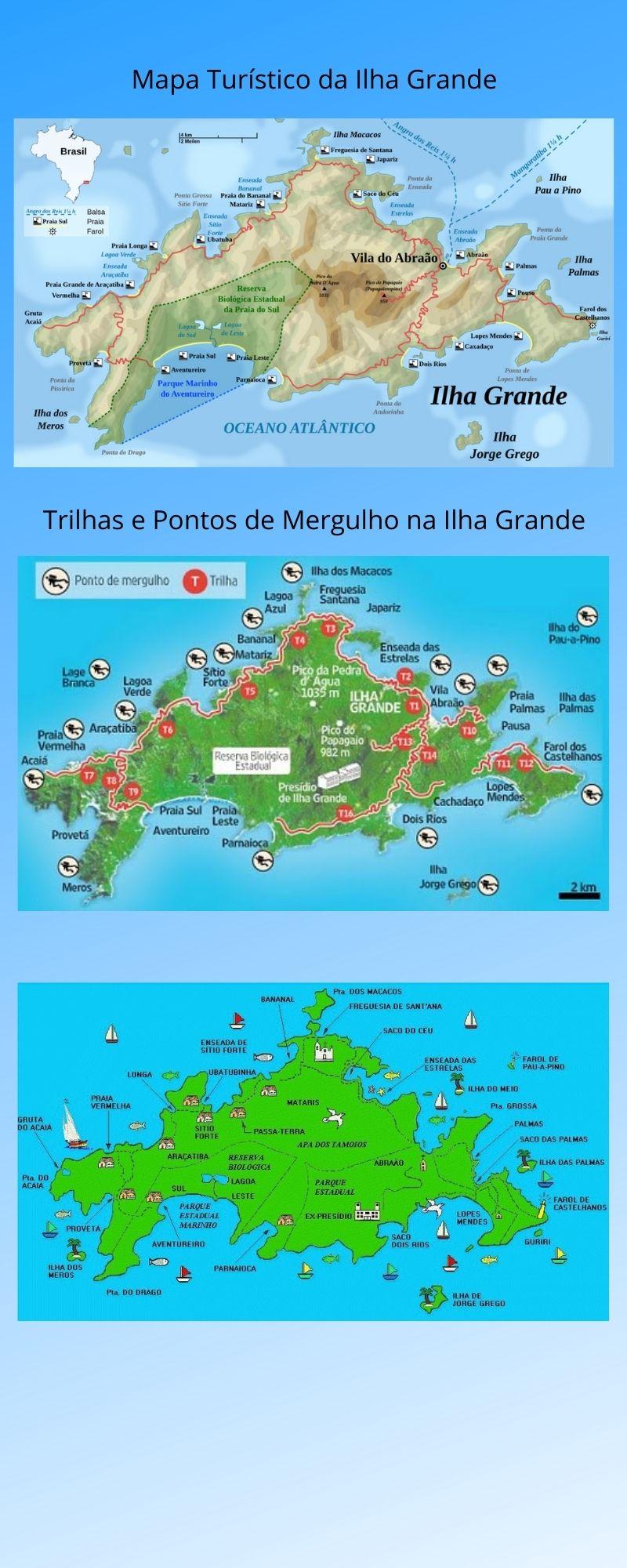 Infográfico Atrações Turísticas do Rio de Janeiro (Litoral Sul) 2