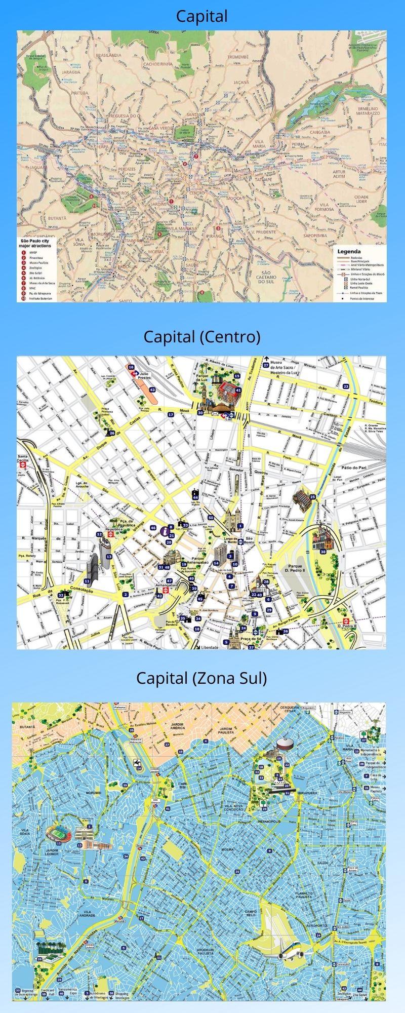 Infográfico Atrações Turísticas de São Paulo (Capital e Região Metropolitana) 2