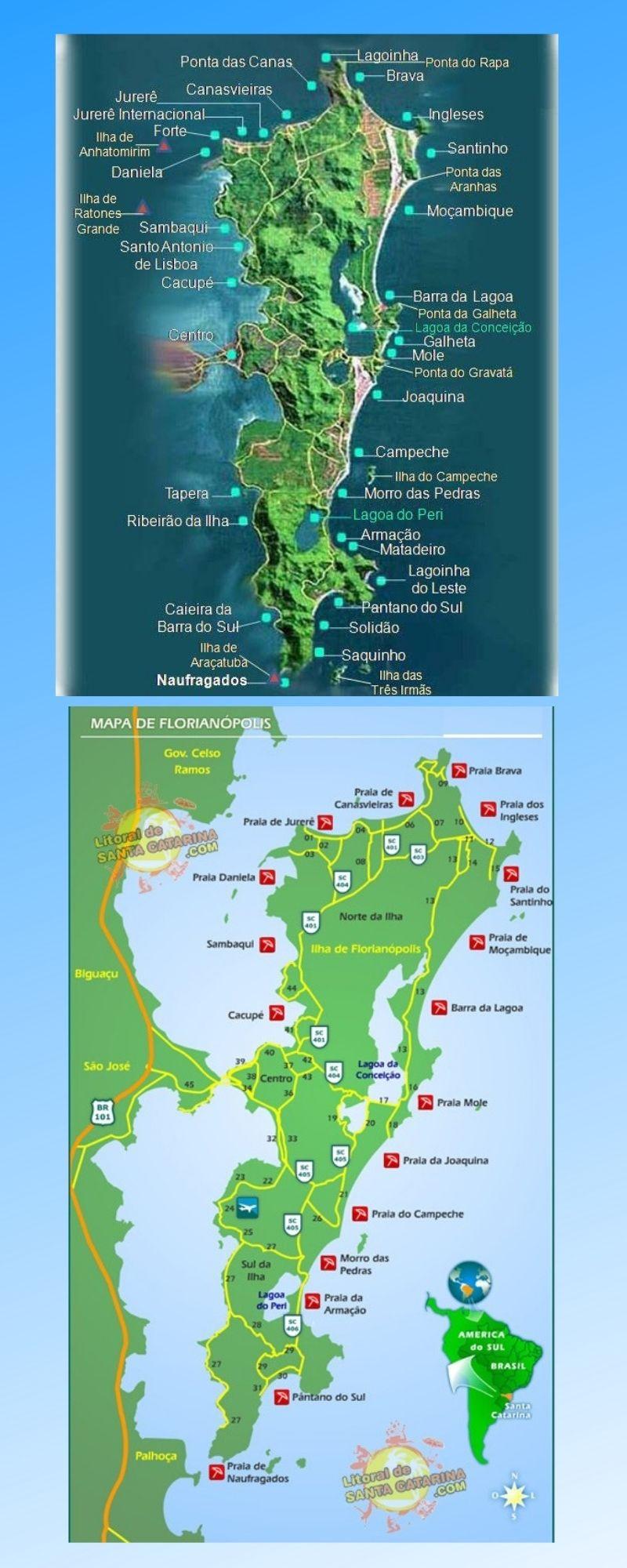 Infográfico Atrações Turísticas de Santa Catarina (Florianópolis e Litoral Norte) 2