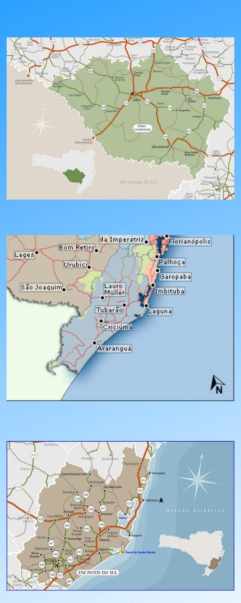 Infográfico Atrações Turísticas de Santa Catarina (Serras Catarinenses e Litoral Sul) 2